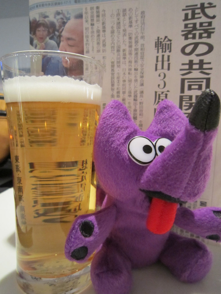 Zippy-Enjoys-Korean-Beer